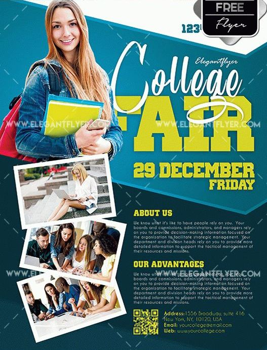 College Fair Free PSD Flyer Template