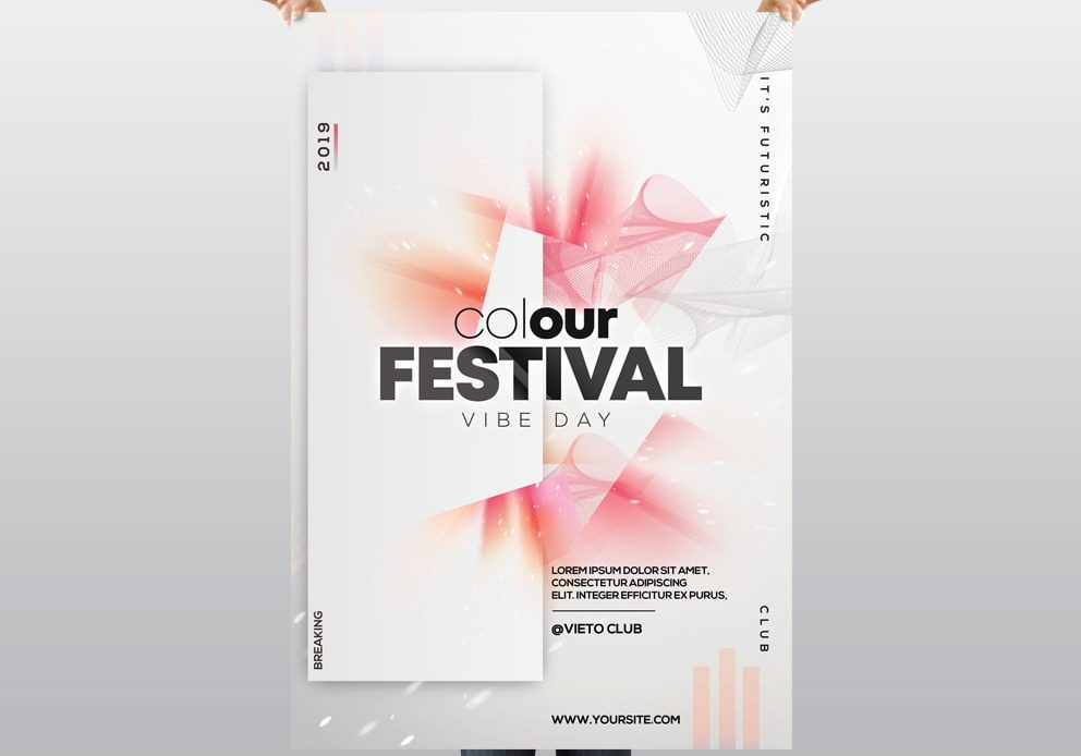Color Festival – Free PSD Flyer Template
