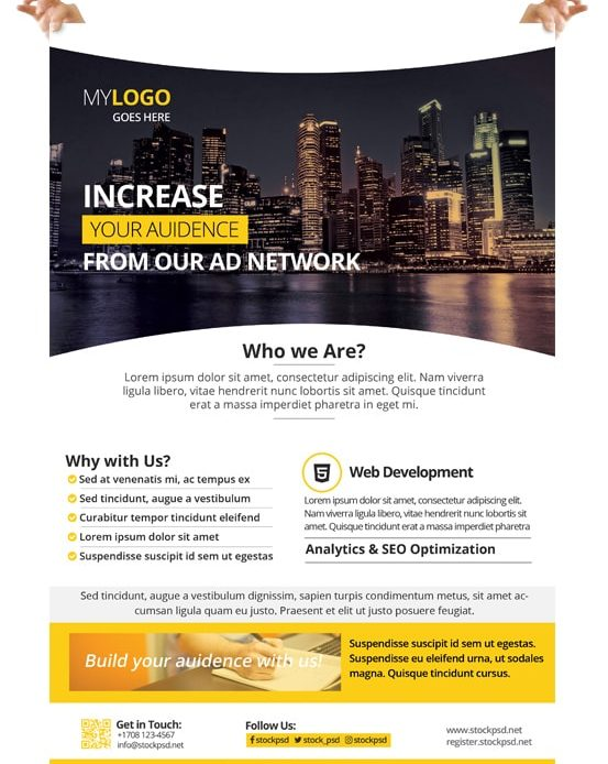 Corporate – Free PSD Flyer Template