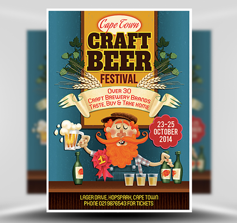 Craft Beer Free PSD Flyer Template