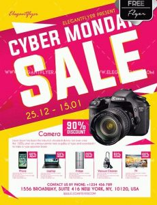 Cyber Monday Sale Free PSD Flyer Template