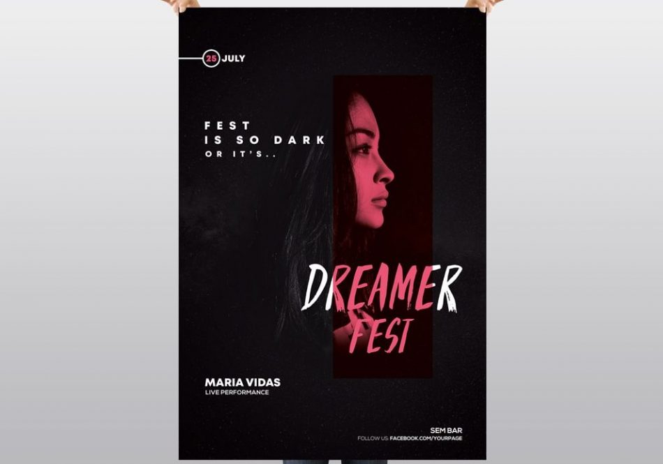 Dark Fest – Free PSD Flyer Template
