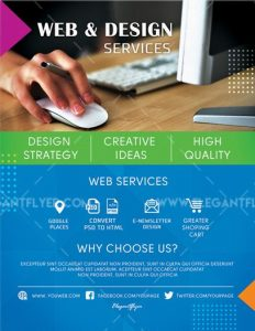 Design Services FREE PSD Flyer Template