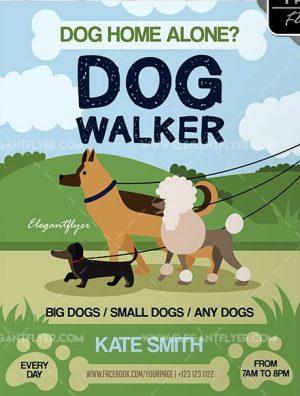 Dog Walker – Free Flyer PSD Template