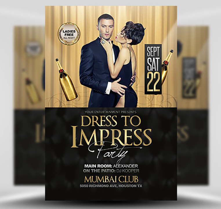 Dress to Impress Free PSD Flyer Template