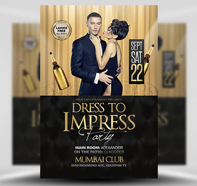 Dress to Impress Free PSD Flyer Template