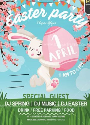Easter Party – Free Flyer PSD Template