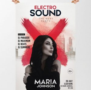 Electro Sound – Free PSD Flyer Template