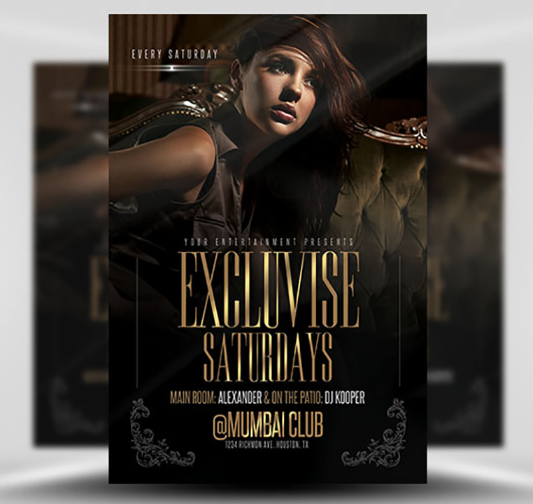 Exclusive Saturdays Free PSD Flyer Template