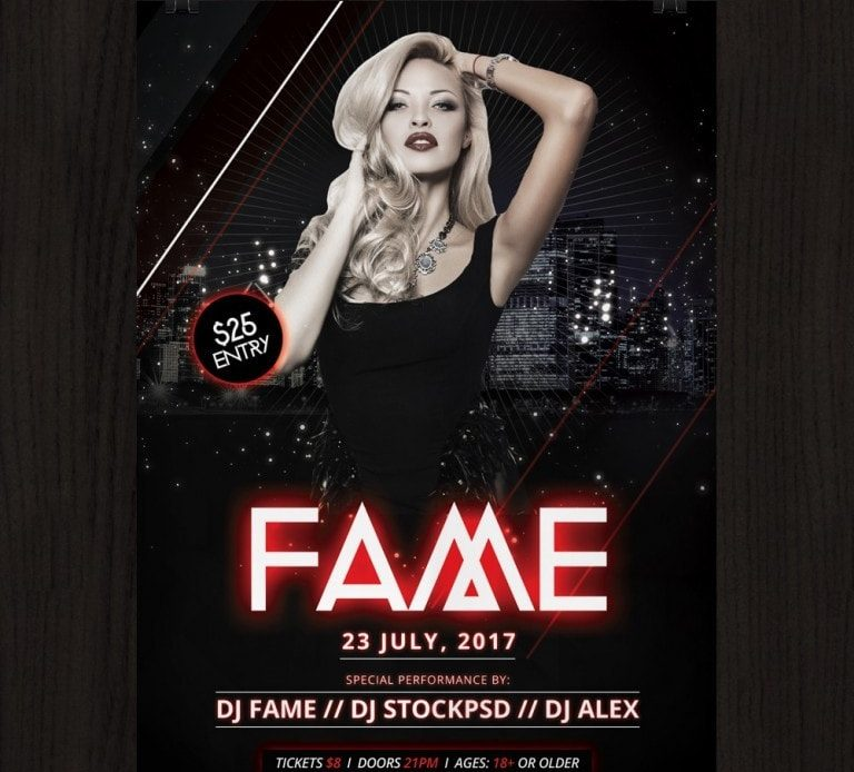 Fame - Free PSD Flyer Template