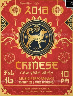 Free PSD Template for Chinese New Year
