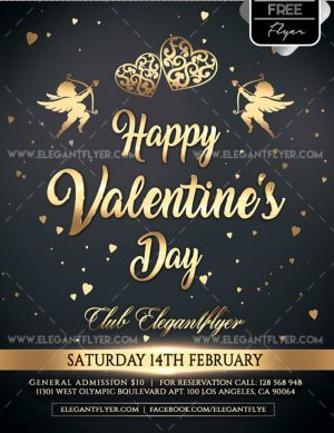 Free Valentine Day – Flyer PSD Template