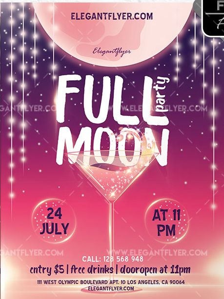 Full Moon Party – Free Flyer PSD Template