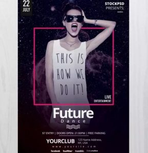 Future Dance – Free PSD Flyer Template