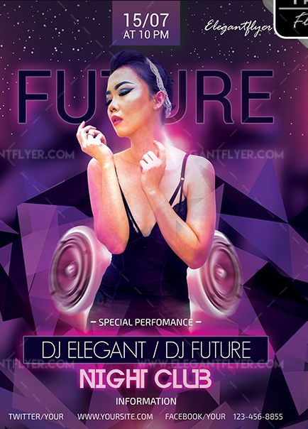 Future Party – Free Flyer PSD Template