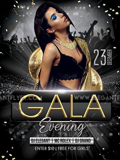 Gala Evening Party – Free PSD Flyer Template