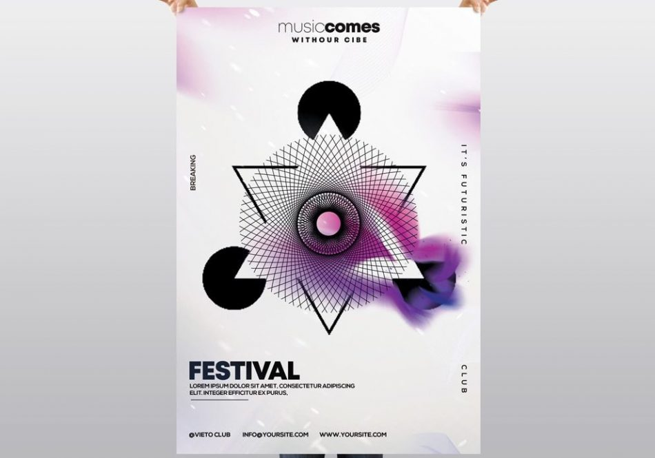 Geometric Party – Free Alternative PSD Flyer Template