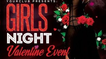 Girls Night Valentine's Event FREE PSD Flyer Template