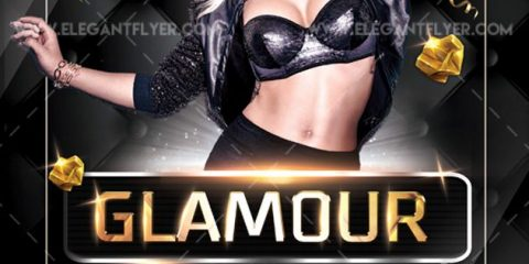 Glamour Party – Free Flyer PSD Template