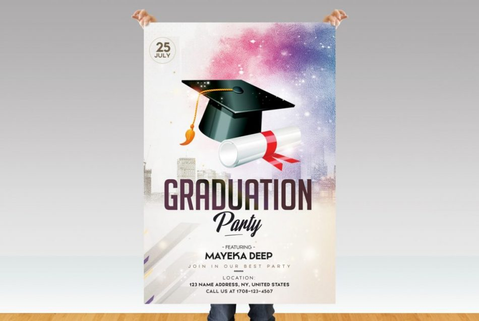 Graduation Party – Free PSD Flyer Template