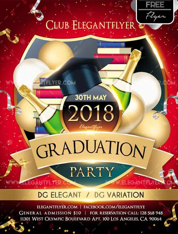 Graduation party – Free Flyer PSD Template