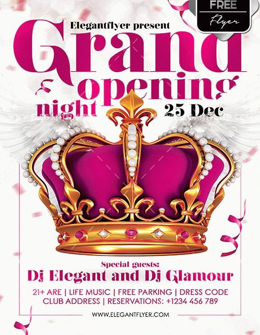 Grand Opening Night Free PSD Flyer Template