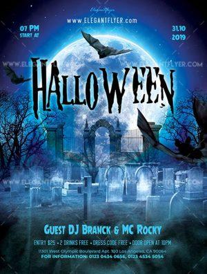 Halloween – Free Flyer PSD Template