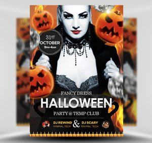 Halloween Free PSD Flyer Template