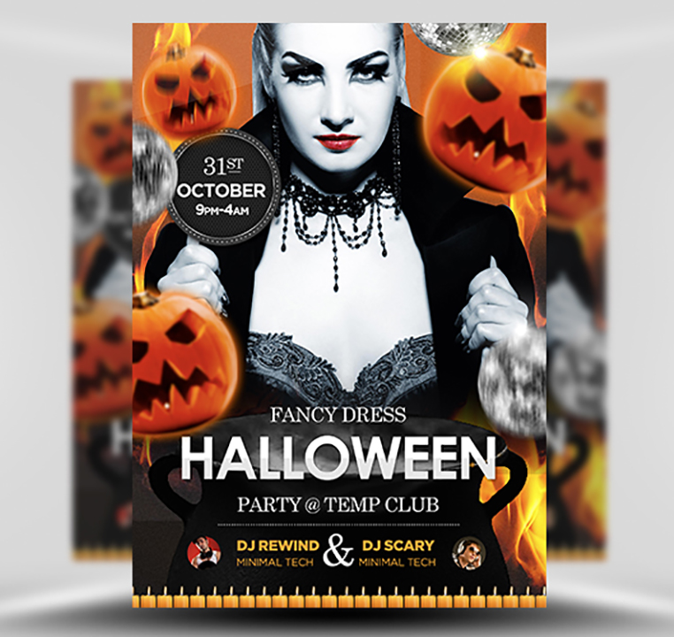 Halloween Free PSD Flyer Template