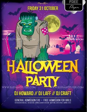 Halloween Free PSD Flyer Templates