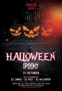 Halloween Spooky – Free PSD Flyer Template