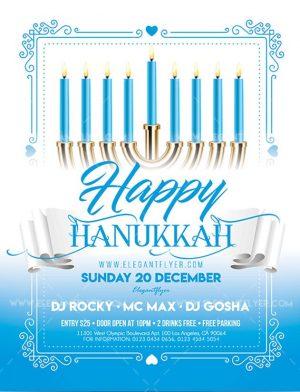 Happy Hanukkah – Free Flyer PSD Template