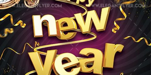 Happy New Year 2020 – Free Flyer PSD Template