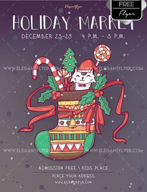 Holiday Market – Free Flyer PSD Template