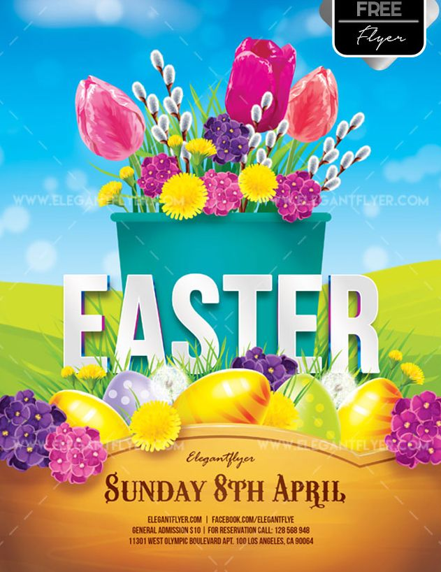 Invitation For Easter FREE PSD Flyer Template