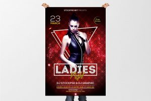 Ladies Night – Free PSD Flyer Template