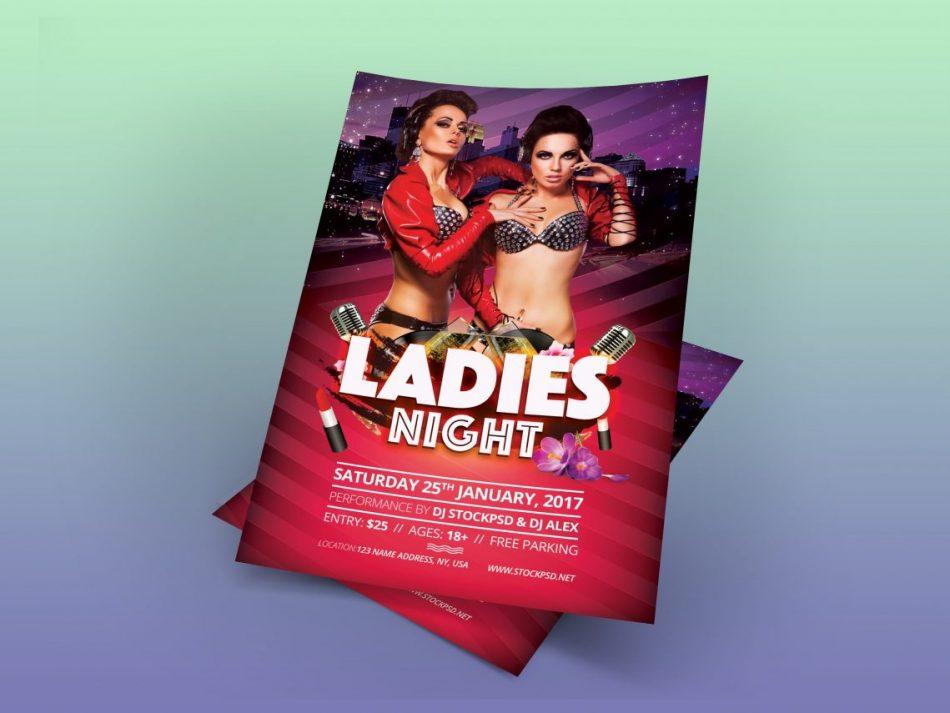 Ladies Night – Free PSD Flyer Template