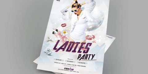 Ladies Party - Free PSD Flyer Template
