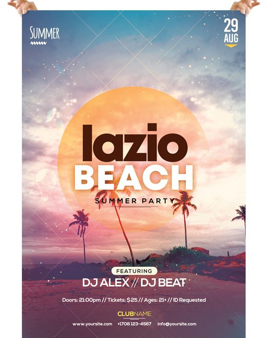 Lazio Beach – Free PSD Flyer Template