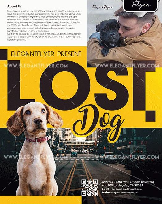 Lost Dog Free PSD Flyer Template