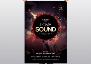 Love Sound – Valentine's Free PSD Flyer Template