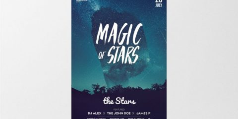 Magic Stars – Free PSD Flyer Template