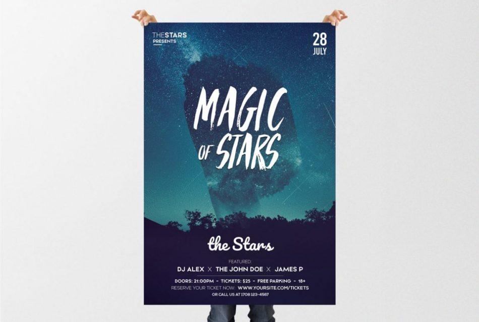 Magic Stars – Free PSD Flyer Template