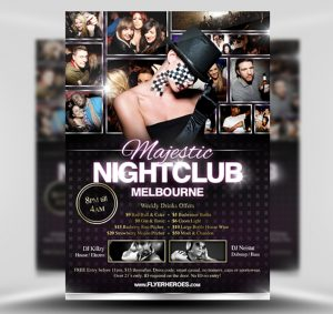 Majestic Nightclub Free PSD Flyer Template