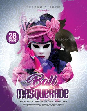 Masquerade Ball – Free Flyer PSD Template