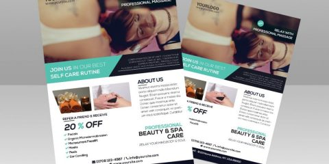 Massage and Health – Free PSD Flyer Template