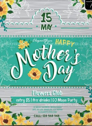 Mother's Day – Free Flyer PSD Template