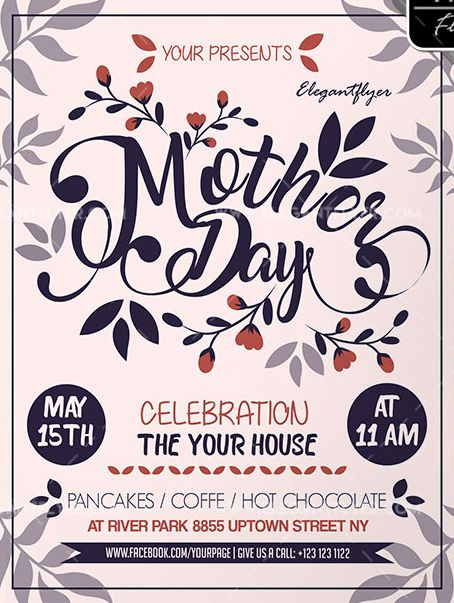 Mother Day – Free Flyer PSD Template