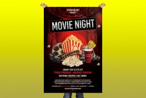 Movie Night – Free PSD Flyer Template