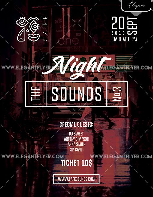 Music Party – Free Flyer PSD Template
